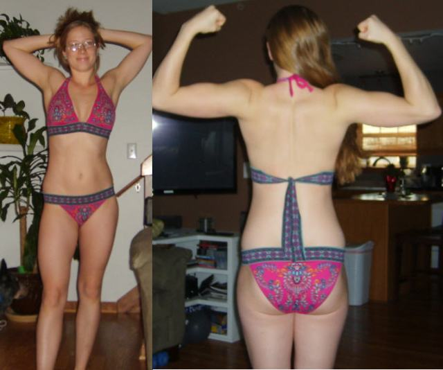 before p90x2 front back